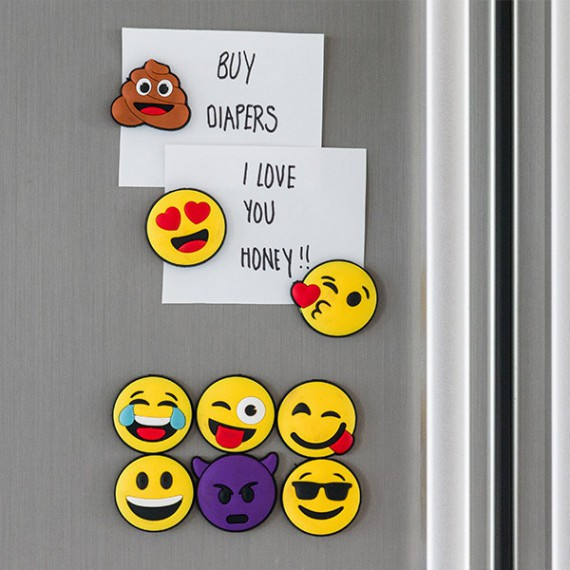 Emoticônes aimantées (lot de 9)