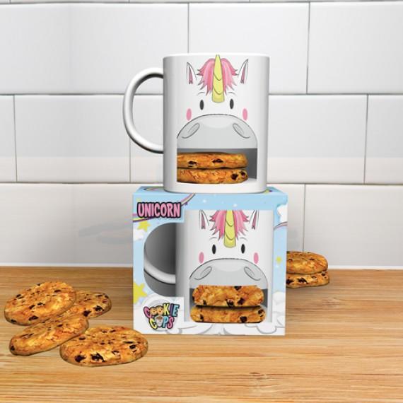 Mug licorne avec emplacement cookie