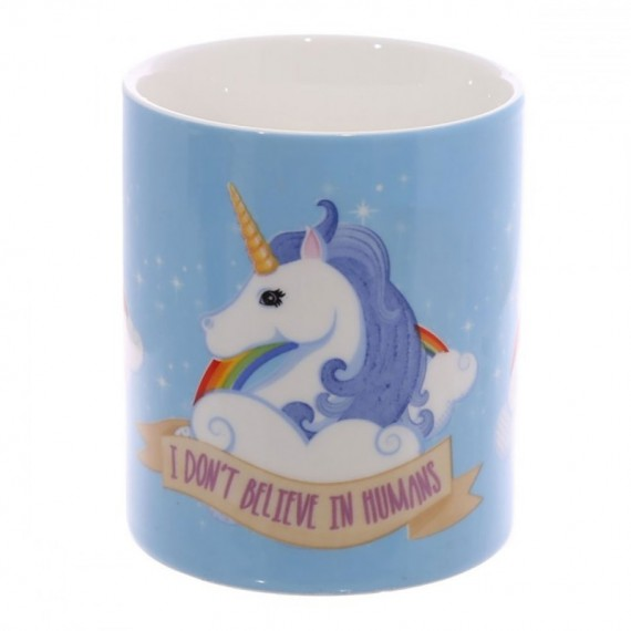 Mug Licorne - I Don't Believe in Humans
