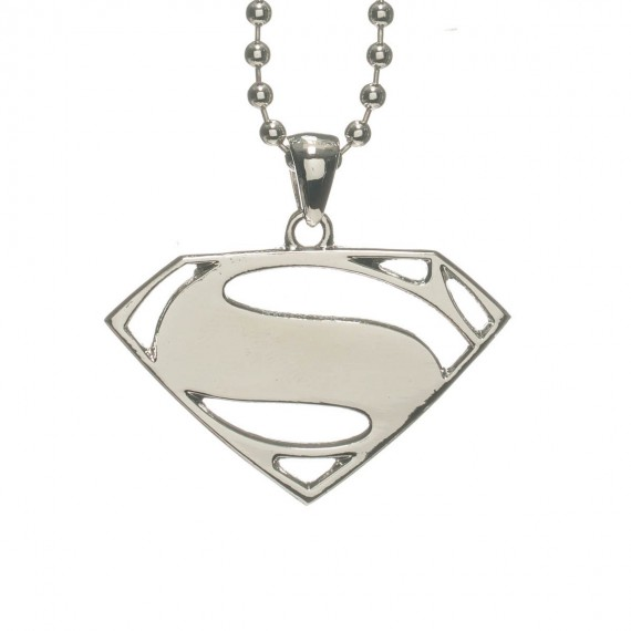 Collier Pendentif Superman Logo Argenté Man of Steel