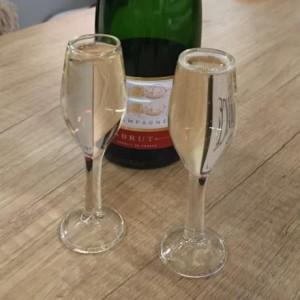 Set de 4 Flûtes à Champagne - Verres à Shooters