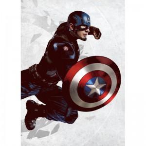 Panneau en Metal Captain America