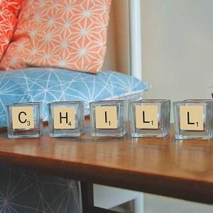 Bougies déco Scrabble