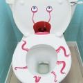 Stickers effrayants pour les toilettes