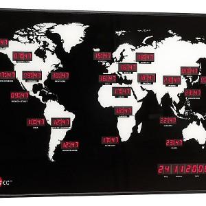 Horloge Mondiale multi fuseaux
