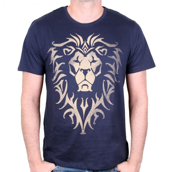 Tshirt Warcraft - Alliance Logo Navy