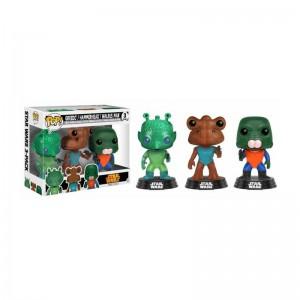 Figurine POP Star Wars - Pack Greedo, Hammerhead & Walrus man Exclusive