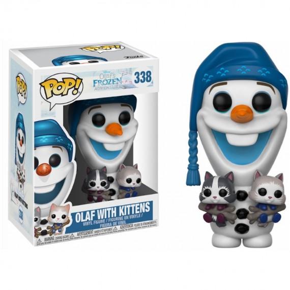 Figurine Disney - La Reine des neiges - Olaf avec chatons Pop 10cm