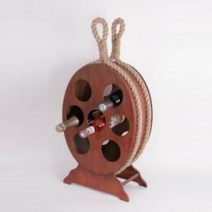 Casier à bouteilles en bois Marina Boat - imitation bois