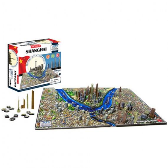 Puzzle 4D CityScape - Jeu de construction - SHANGHAI