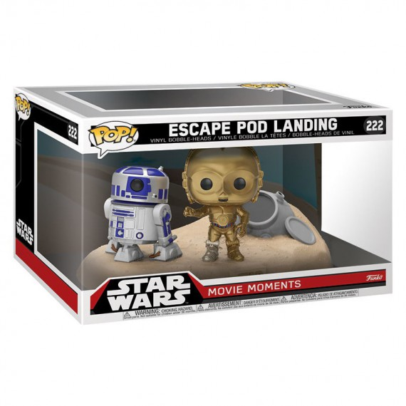 Figurine Star Wars - Bi-Pack Escape Pod Landing R2-D2 & C-3PO Desert Exclusive Pop