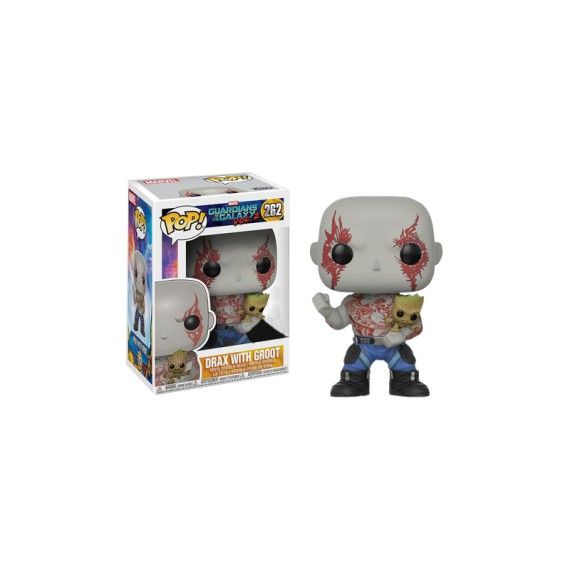 Figurine Guardians of the Galaxy Vol. 2 - Drax with Groot Exclusive Pop 10cm