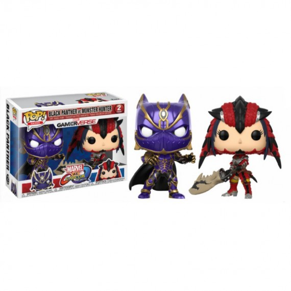 Figurine Marvel VS Capcom - Black Panther VS Monster Hunter Pop 10cm