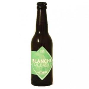 Bière blanche - AZIMUT BLANCHE LIME BASILIC 0.33L