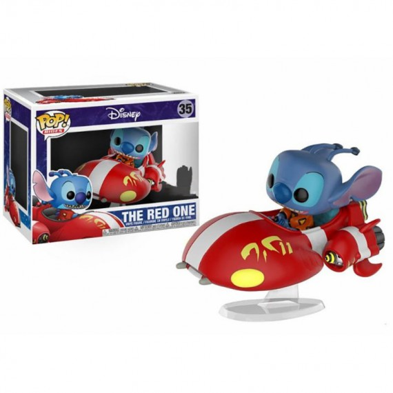 Figurine Disney - Stitch rides Red One (Exclusive) Pop 10cm