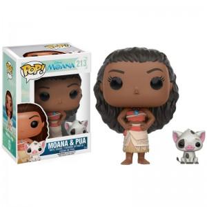 Figurine Disney - Vaiana - Vaiana et Pua Pop 10cm