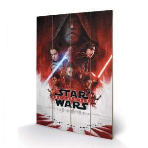 Panneau en Bois Star Wars EP8 Affiche