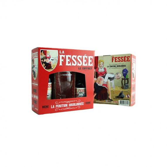COFFRET BIERE FESSEE 2*0.33L + 1 VERRE