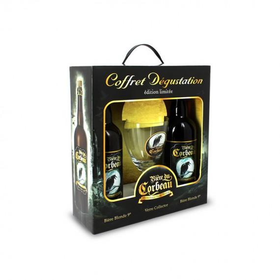 COFFRET BIERE DU CORBEAU 2*0.75L + 1 VERRE