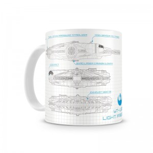 Mug Star Wars Blueprint Millenium Falcon