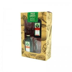 COFFRET JAGERMEISTER 2*0.02L + 2 VERRES