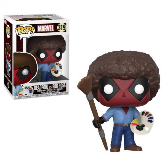 Figurine Pop Marvel - Deadpool as Bob Ross