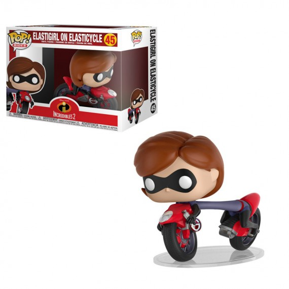 Figurine Pop Les Indestructibles 2 - Elastigirl sur l'Elasticycle