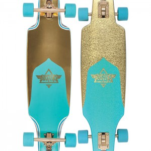 "Longboard - Dusters Channel Prism 34"" Turquoise Gold Complete"