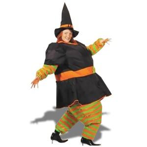 Costume de sorcière gonflable avec chapeau