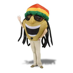 Costume rasta-man gonflable