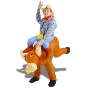 Costume toréro sur dos de taureau
