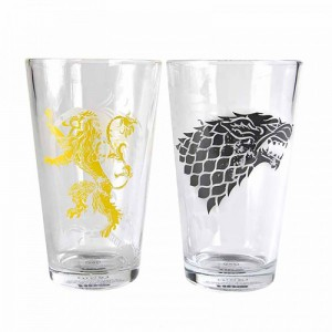 Verres géants Game of Thrones - Lannister et Stark