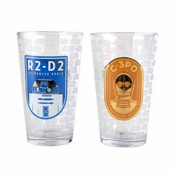 Set de 2 Verres Star Wars - R2D2 et C3PO