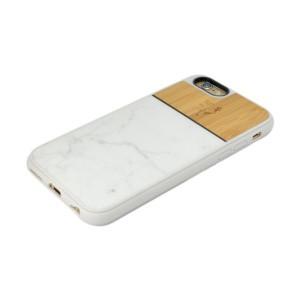 Coque smartphone en marbre blanc et bambou - iPhone 6 - 6S