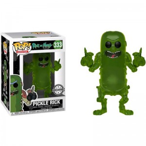 Figurine POP Rick et Morty Translucent Pickle Rick Exclusive)