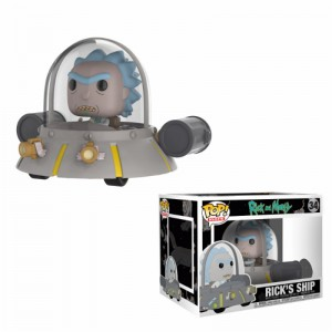 Figurine POP Rides Rick et Morty Space Cruiser (Exclusive)
