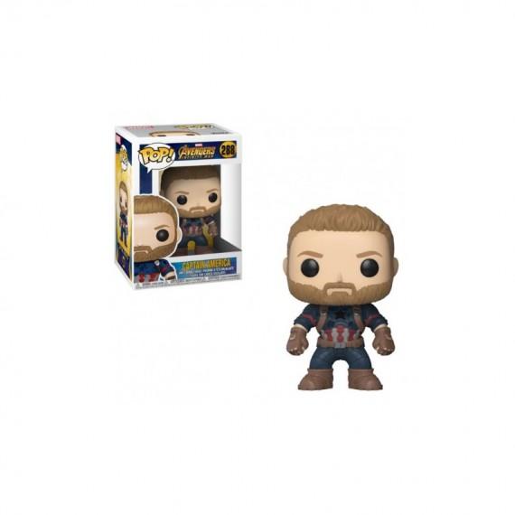 Figurine Marvel - Avengers Infinity War - Captain America Pop 10cm