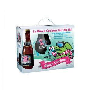 RINCE COCHON D'HIVER COFFRET 3*0,33L ( 2BL + 1 ROUGE + 1 VERRE )