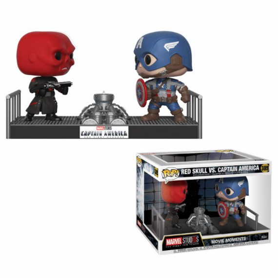 Figurine POP Bobble head Marvel Captain America vs Red Skull
