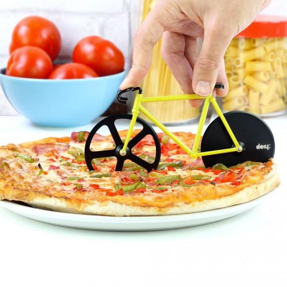 Roulette à pizza vélo 'Fixie' bleu/rose