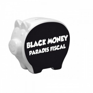 Tirelire cochon - Black money