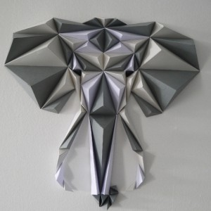 Elephant origami DIY - Made in France