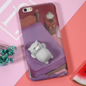 Coque iPhone à tripoter - Chien et chat