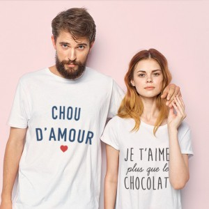 T-shirt femme - Je t'aime plus que le chocolat