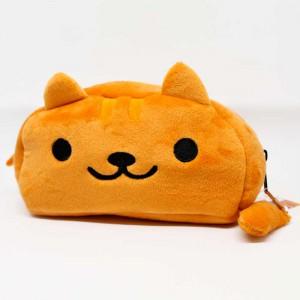 Pochette kawaii chat en peluche