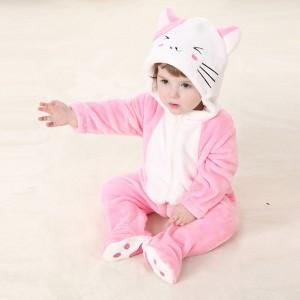 Combinaison petit chat rose - Barboteuse pour enfant