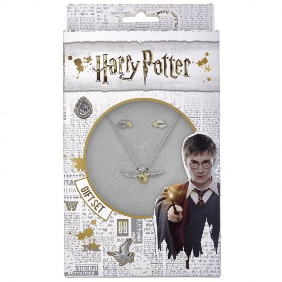 Boucles d'oreilles et collier Harry Potter - Vif d'or