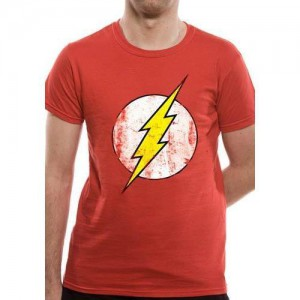 T-shirt Flash rouge logo vintage