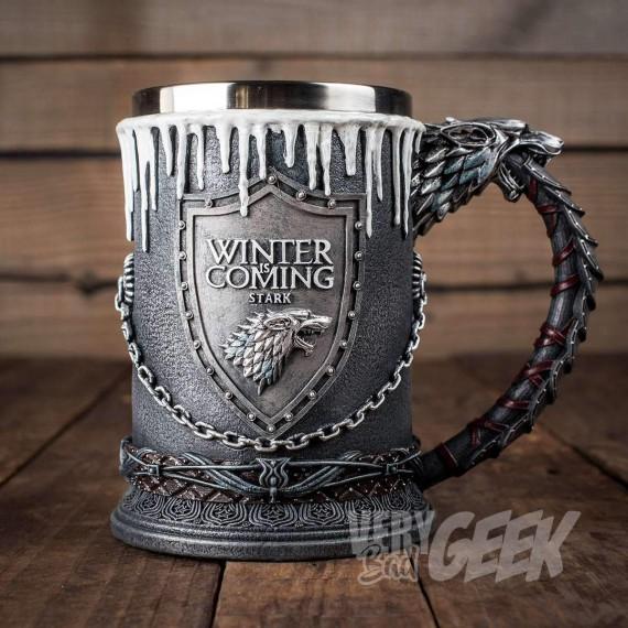Chope Game of Thrones Stark Logo Métallique
