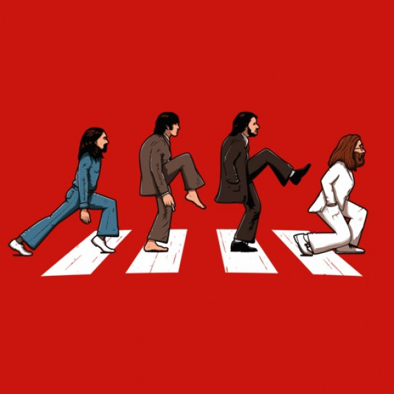 T-shirt - The Beatles vs. Monty Python